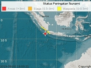 Banten Jolted by 7.4-magnitude Earthquake
