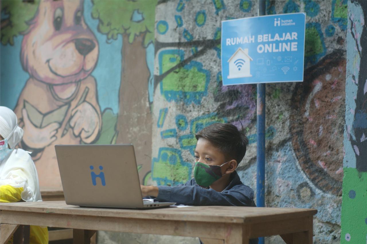 Human Initiative Hadirkan Rumah Belajar Online untuk Bantu Anak Prasejahtera