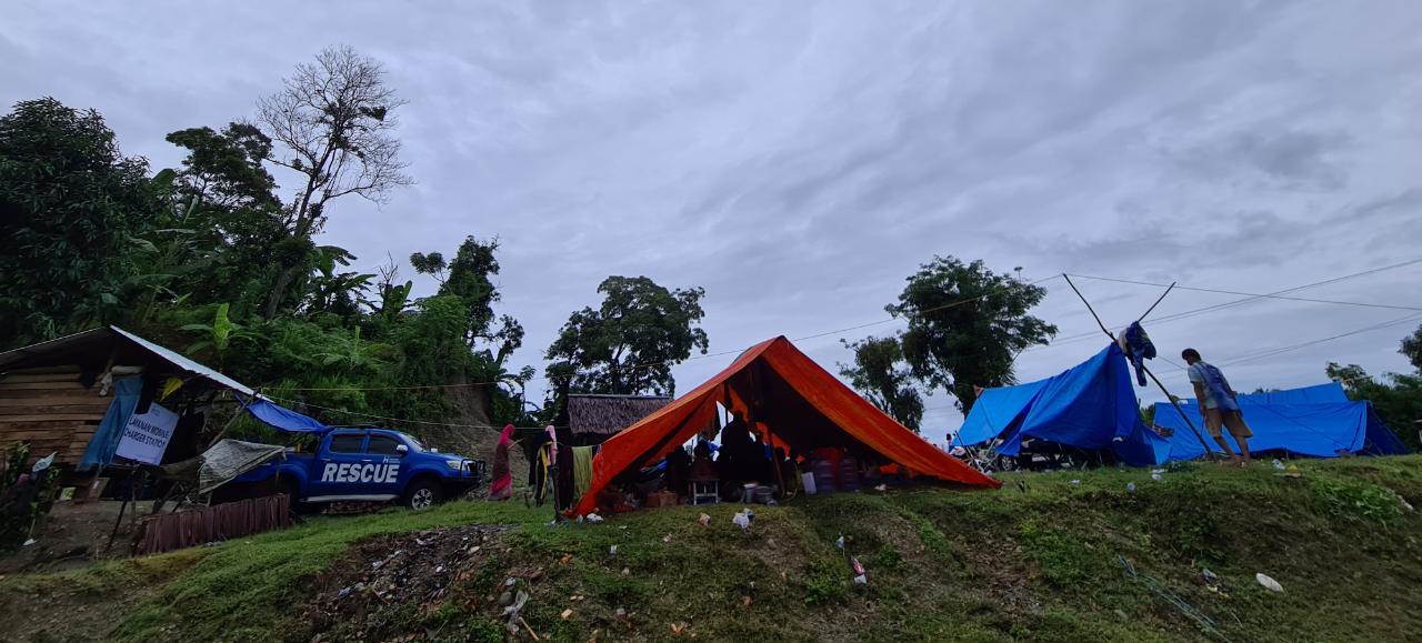 Foto : Kondisi pengungsian di Kecamatan Malunda