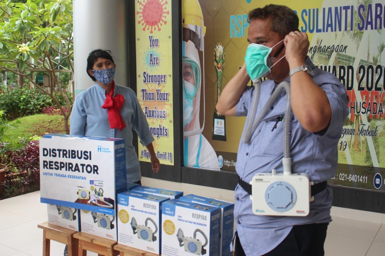 Lindungi Tenaga Kesehatan dari Corona, Human Initiative Distribusikan Alat Respirator