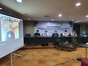 Indonesian Humanitarian Alliance (IHA) bersama Tokoh Penggerak Aksi Kemanusiaan Lintas Agama menggelar konferensi pers untuk menyikapi konflik antara Israel dan Palestina